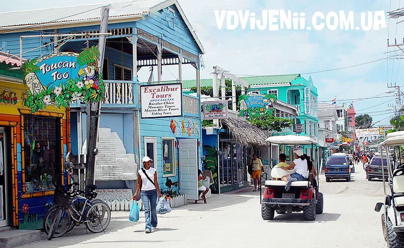 ambergris-caye shops-downtown-